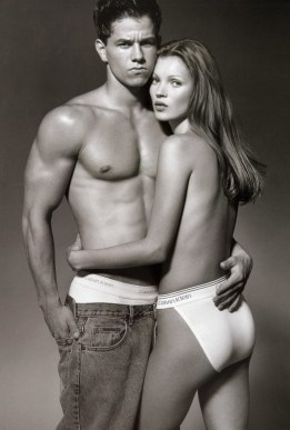 Mark Wahlberg and Kate Moss for Calvin Klein underwear // Vogue